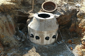 The Medusa Manhole in Ocean Isle Beach - cored 4 service lines!